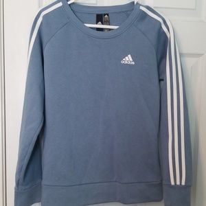 Adidas steel blue sweatshirt